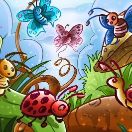 illustration-insect-cartoon-jungle-fairy-tale-comics-spider-beetles-insects-butterflies-screenshot-invertebrate-moths-and-butterflies-614297